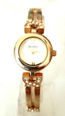 £3 • Buy Ladies Dainty Henley Gold Tone Watch With Matching Strap And Diamantes