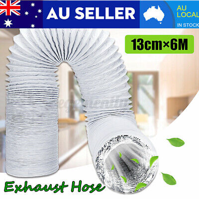 AU15.78 • Buy 13cm*6M Exhaust Pipe Vent Hose Tube Parts For Portable Air Conditioner NEW X