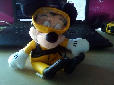 £5 • Buy Disney Collectable Bean Bag Toy - Diving Mickey Mouse With Eye Mask