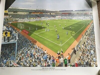 £7.99 • Buy Coventry City Fc The Final Farewell Print No 912/1000 Graham Bosworth 05