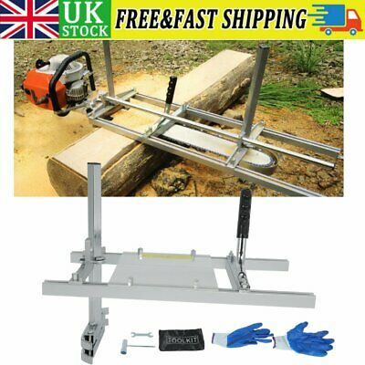 £54.57 • Buy Portable 20  Chainsaw Mill Guide Bar Cutting Sawmill Woodworking Aluminum Steel