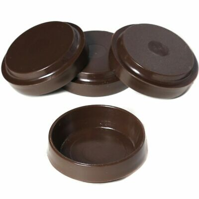 £2.95 • Buy 4 X SMALL BROWN CASTOR CUPS Carpet/Floor Chair/Sofa Furniture Protectors Caster