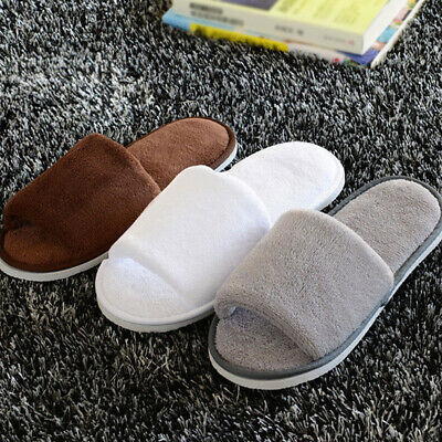 £5.47 • Buy Home Towelling Spa Slippers Mens Womens Hotel Wedding Open Toe Shoes New