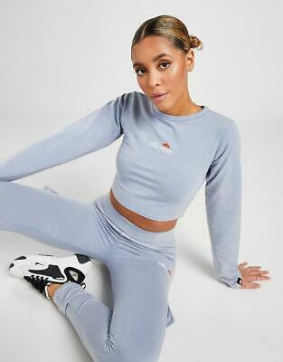 £11.99 • Buy New Ellesse Women's Acid Wash Long Sleeve Crop T-Shirt From JD Outlet