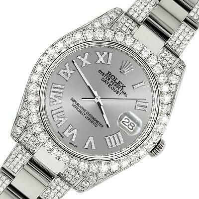 $ CDN19349.75 • Buy Rolex Datejust II 41mm Diamond Bezel/Lugs/Bracelet/Silver Roman Dial Steel Watch