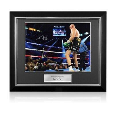 AU440 • Buy Tyson Fury Signed Boxing Photo: Fury Vs Wilder 2. Deluxe Framed