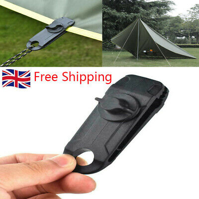 10x Tent Tarp Tarpaulin Clips Clamps Buckle Camping Tool Heavy Duty Reusable UK • 2.99£