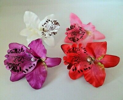 £1.95 • Buy Orchid Flower Hair Grip Clip Festival Wedding Bridesmaid Prom 4 Colours Free P&P