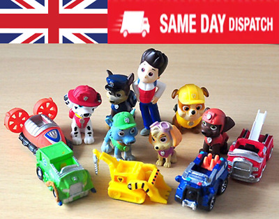 £7.41 • Buy Paw Patrol Cake Toppers Action Figures Puppy Patrol Dog Kids Toy Gift 12pc Set