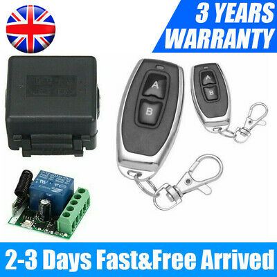 £10.88 • Buy 433 MHz 12V Wireless Remote Control Transmitter Receiver Switch Module 1CH Relay