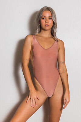 $ CDN56.27 • Buy Wicked Weasel Rose Gold Sheer Vision One Piece Sz S New Sizing