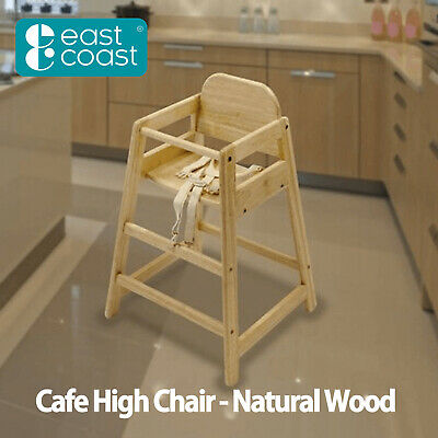 £47.99 • Buy NEW CAFE HIGH CHAIR In NATURAL Wood From East Coast Baby