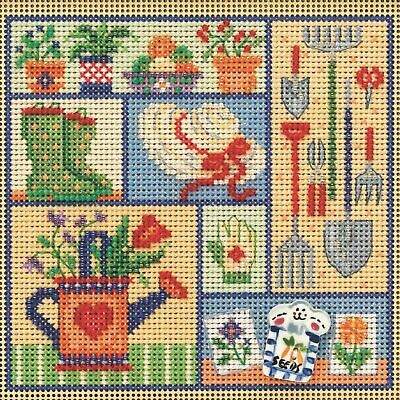 $12.99 • Buy Mill Hill Spring Buttons & Beads Counted Cross Stitch Kit ~ Garden Sampler ~
