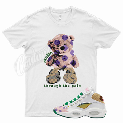 $26.99 • Buy White SMILE T Shirt For Reebok Mid Question Candyland Candy Land Kamikaze Balvin