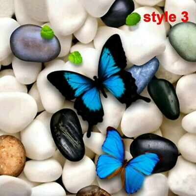 AU17.48 • Buy 5D Full Drill Diamond Painting Mural Stone Butterfly Cross Stitch Kit Embroidery