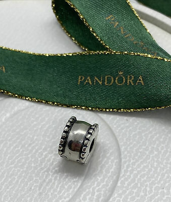 AU20 • Buy Pandora Bevelled Barrel Silver Fixed Clip Charm 790267 Retired Authentic Ale 925