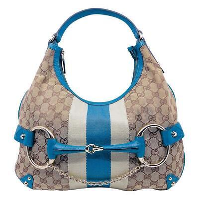 AU750 • Buy Gucci Monogram Canvas Horsebit Hobo Bag