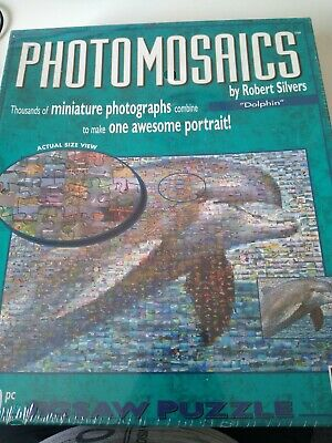 £7.99 • Buy 'Dolphin'  Photomosaics. 1000 Piece Jigsaw Puzzle.BV LEISURE. Complete
