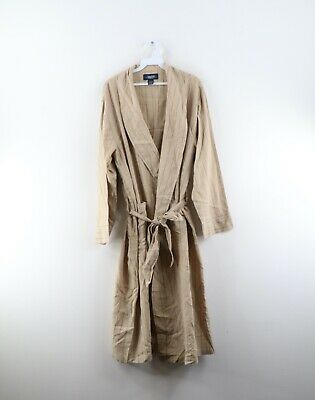 $62.95 • Buy Vintage 90s Nautica Mens Large / XL Striped Belted Cotton Bath Robe Loungewear