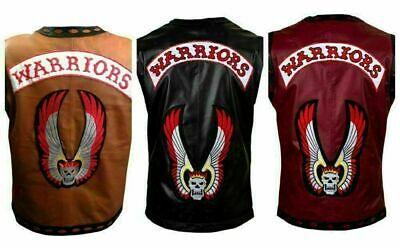 $80.99 • Buy The Warriors Movie Real Leather Vest/Jacket Cow Hide 2 Inside Pockets Top Qualit