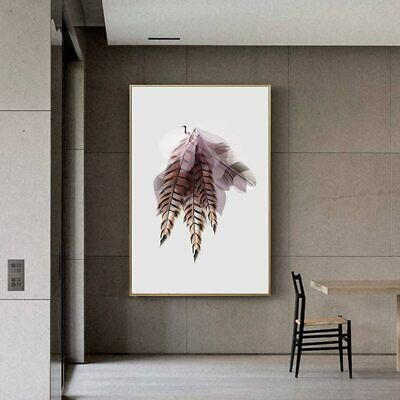 AU59.95 • Buy Colourful Big Print Abstract Feather Angel Wing Canvas Wall Art Home Decor
