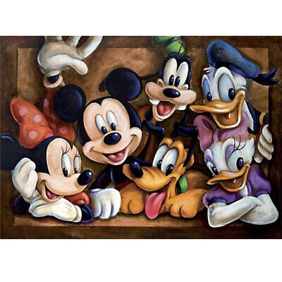 £5.87 • Buy Round Full Drill 5D Diamond Painting Art Craft Kit Mickey Mouse Embroidery Decor