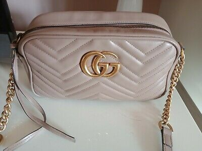 AU850 • Buy Gucci GG Marmont Small Bag Dusty Pink/gold