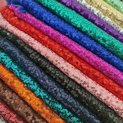 £4.99 • Buy Sequin Fabric Sparkly Shiny Bling Dress Craft Drape Table Cloth Material 50
