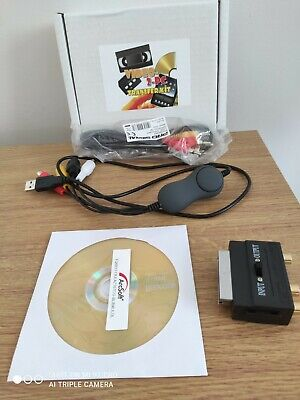 Video-2-PC USB Video Capture Device For Windows 7&up. Copy VHS Tapes To PC/DVD • 28£
