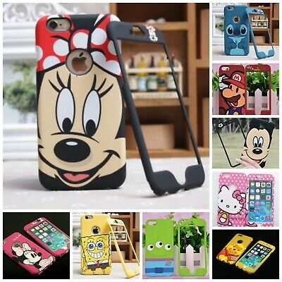 £8.95 • Buy Disney Minnie Mickey Stitch Apple IPhone 4 5 6 7 8 + Front & Back Case Cover