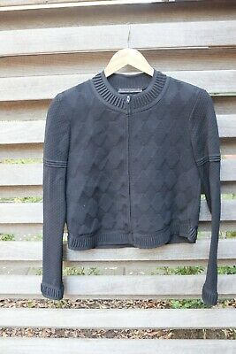 AU140 • Buy Scanlan And Theodore Black Crepe Knit Jacket Small Preloved LO020521