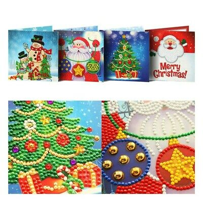 £5.99 • Buy 5D DIY Diamond Painting Greeting Cards Series Birthday Xmas Party Gifts 4PCS