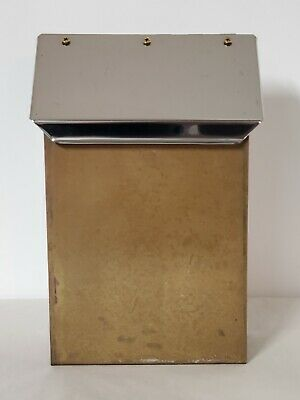$30 • Buy Vintage Brass Mailbox With Stainless Steel Lid Nice Quality Made In USA! 🌞