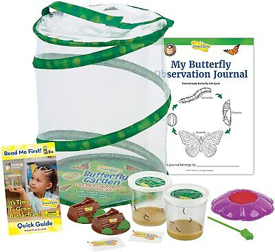£58.67 • Buy Butterfly Garden Original Habitat And Two Live Cups Of Caterpillars With STEM