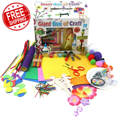 £12.99 • Buy 1000 Pieces Arts And Crafts Box Set Kit Children Kids Gift Boys Girls Toys NEW