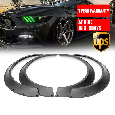 $ CDN68.93 • Buy 4x Flexible Fender Flares 3.5'' Extra Wide Body Wheel Arches For Ford Mustang US