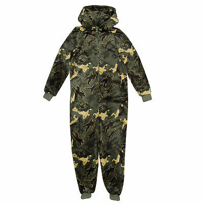 Boys Fortnite All In One Pyjamas Emotes Camo Official Merchandise Green 9-10 Yrs • 22.99£