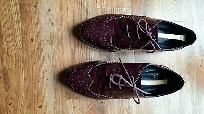Evans Size 9 EEE Fit, Patent Flatform Lace Up Loafer Shoes • 3.30£