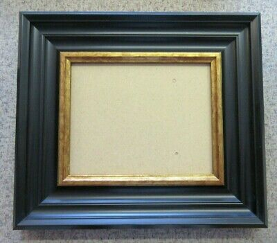 AU14.36 • Buy Sale- 8 X10  80mm Wide Deco Black & Gold Chunky Polcore Picture Photo Frame