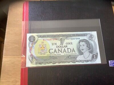 Bank Of Canada  One Dollar Bank Note 1973 Brilliant Uncirculated  • 1.50£