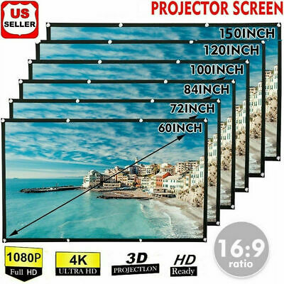 AU28.99 • Buy Foldable Projector Screen 16:9 HD Outdoor Home Cinema Theater 3D Movie Portable