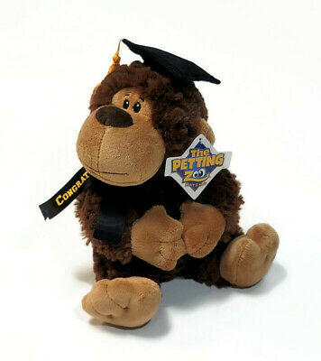 $ CDN14.14 • Buy The Petting Zoo Monkey Plush Graduation Stuffed Animal 9  W/ Cap Brown
