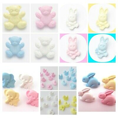 £2.60 • Buy 12 Novelty Animal Buttons 15mm Baby, Childrens BUTTONS, Craft Supply