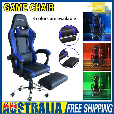 AU108.55 • Buy Gaming Chair Office Executive Computer Chairs Seating Racing Recliner AU STOCK