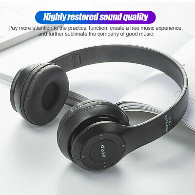£7.59 • Buy Wireless Headphones Bluetooth Headset Noise Cancelling Over Ear With Microphone