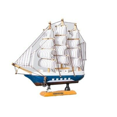 £27.61 • Buy Home Decoration Wooden Sailboat Table Craft Caribbean LED Light Accessories Ship