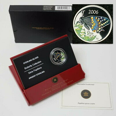 $10.50 • Buy 2006 Canada 50c Short-Tailed Swallowtail Silver Proof Butterfly Coin CBX3C0677