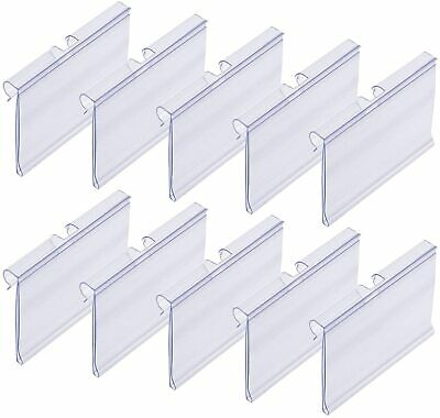 £18.56 • Buy Meetory 50 PCS Clear Plastic Label Holders For Wire Shelf Retail Price Label Mer