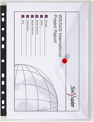 £6.50 • Buy Snopake A4 Polyfile RingBinder Popper Wallet – Clear [Pack Of 5] Ref: 12566
