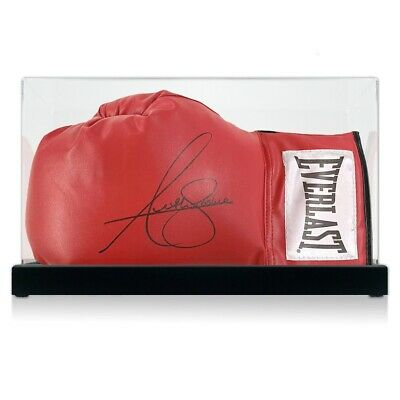 AU634 • Buy Anthony Joshua Signed Red Boxing Glove. In Display Case